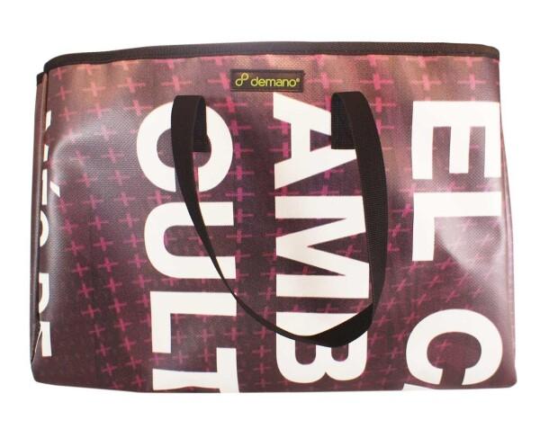 Brompton Bag Miramar // Dark purple-white letters | Demano
