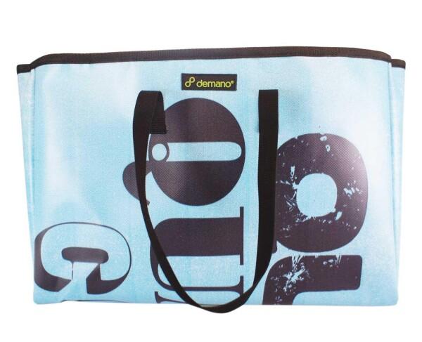 Brompton Bag Miramar // Light blue-Black letters | Demano
