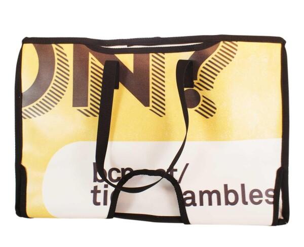 Brompton Bag Miramar // Yellow-Black letters | Demano