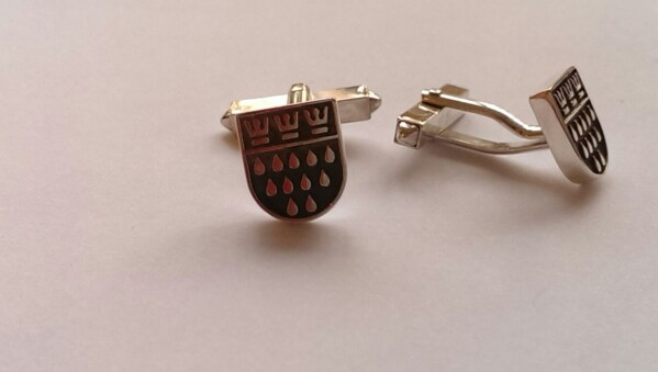 Cufflinks Cologne coat of arms | Goldschmiede Andrea Quast