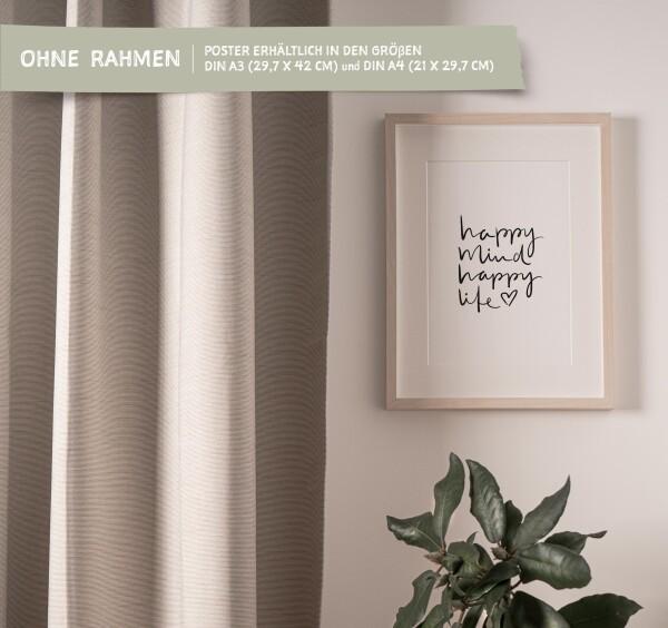 Tales by Jen Art Print: Happy mind happy life | Tales by Jen