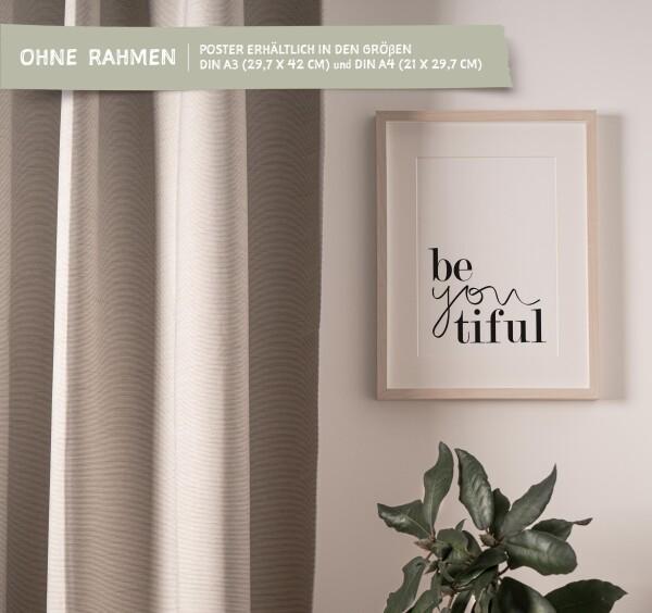 Tales by Jen Art Print: Be you tiful   Tales by Jen