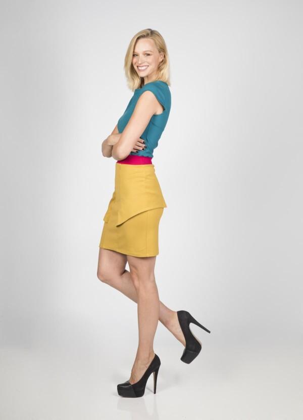 Dress Aurea colorblocking | kirsch-grün