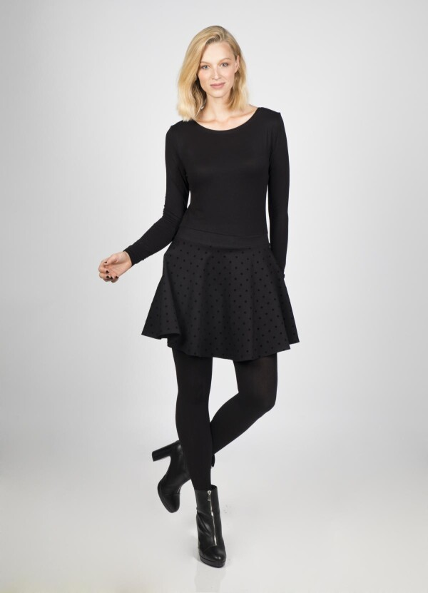 Pippa full skirt with star flakes | kirsch-grün