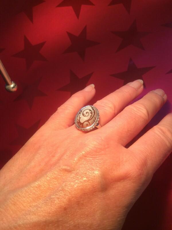 Zirconia / tortoiseshell ring | Atelier Schmuck Tönnissen