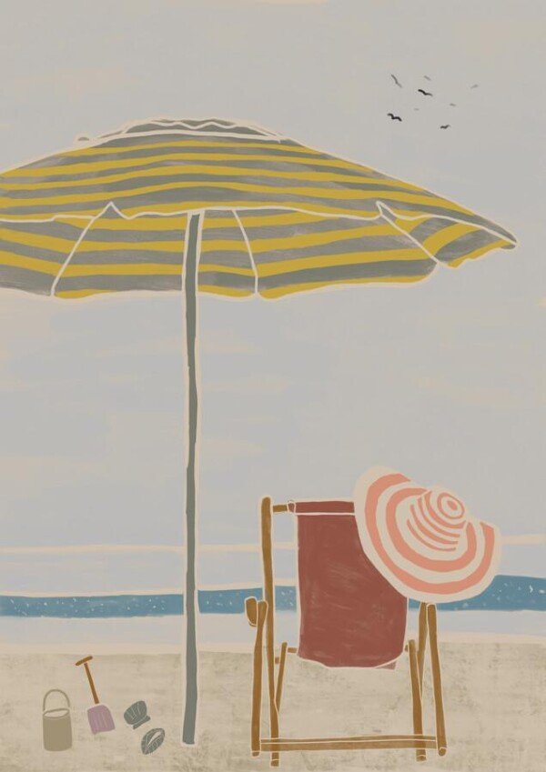 Deck chair from Kunga by The Artcircle Premium Poster   Photocircle