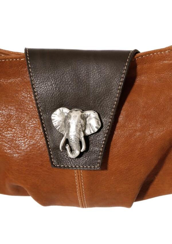 Leder Umhängetasche mit Elefantenkopf | JUAN-JO gallery