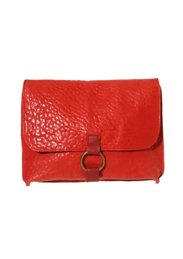 Red Leather Messenger crossbody and clutch Anna | JUAN-JO gallery