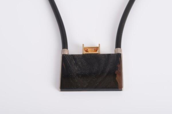 8091 obsidian pendant | catya fine arts