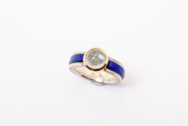 8917 Lapis lazuli and aquamarine | catya fine arts