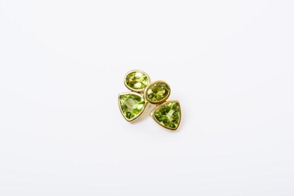 8924 Earring with peridot | catya designer second hand