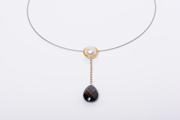 9011 Black Tourmaline Drops | catya fine arts