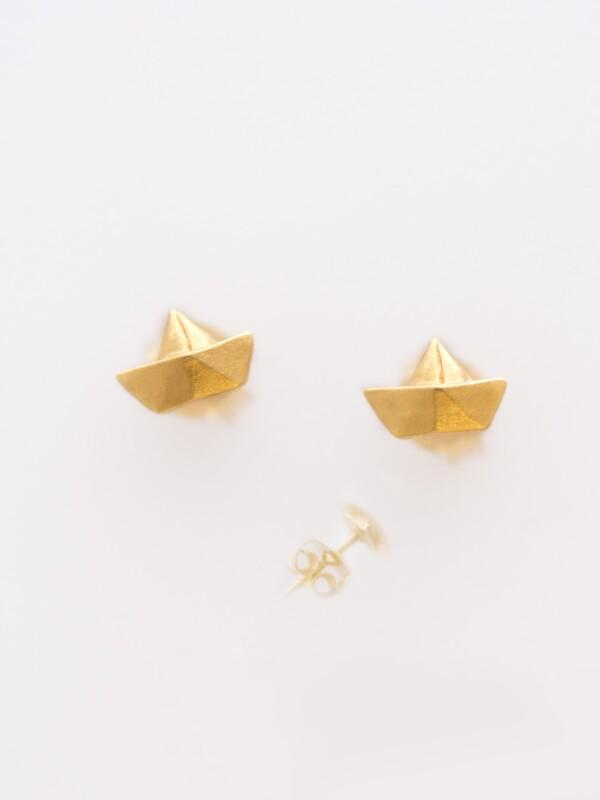 Earrings Paper ship-plated | Herzberg