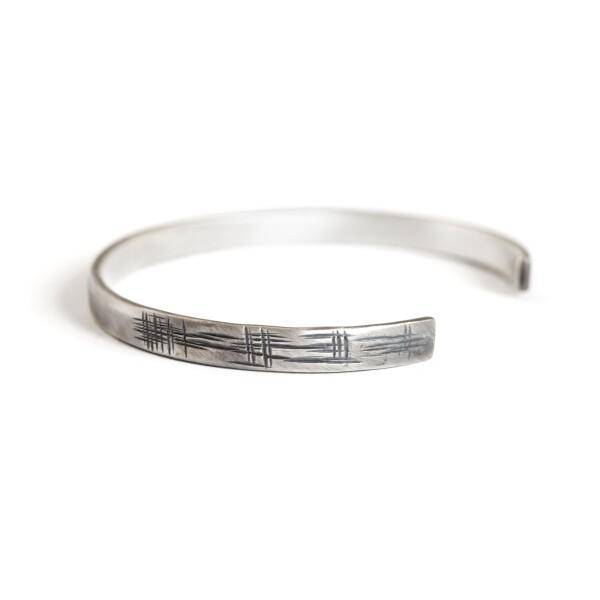 Japanese Textured Cuff Bracelet | MadMenJewelry