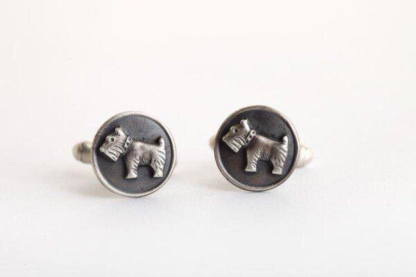 Terrier Dog Cufflinks | MadMenJewelry