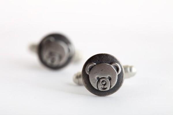 Teddy Bear Cufflinks   TomerM Jewelry