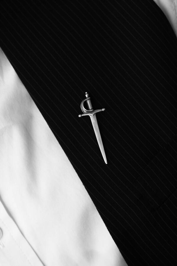 Sword Pin in Sterling Silver | MadMenJewelry