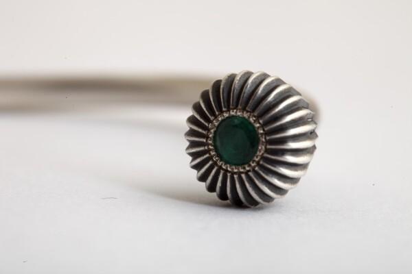 Emerald Cuff Bracelet | MadMenJewelry