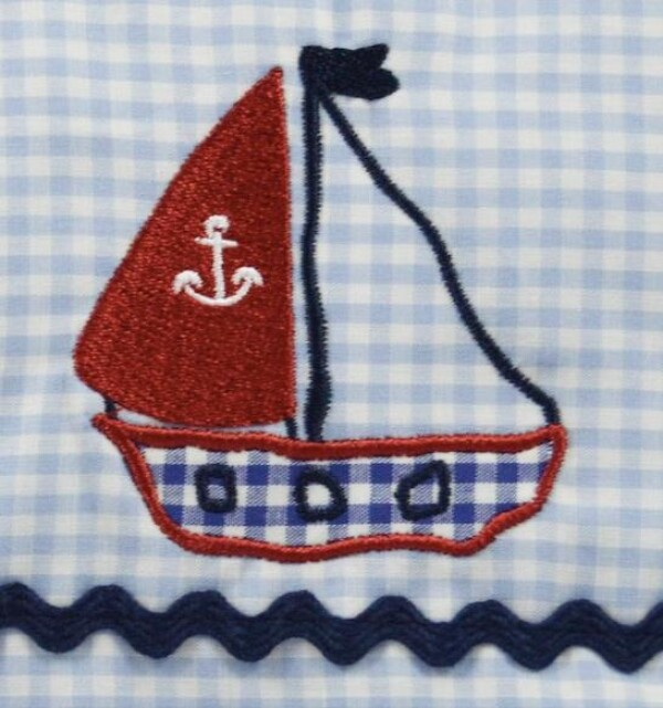 Toiletry bag light blue sailboat | LAND- KINDer