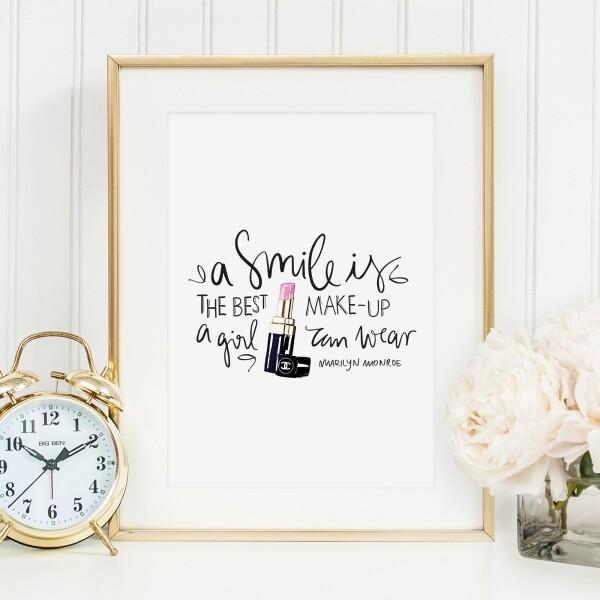 Tales by Jen Art Print: A smile is the best makeup a girl can wear   Tales by Jen