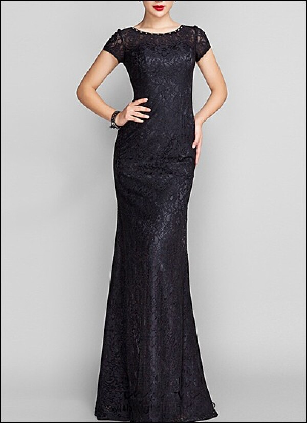 Black lace evening dress with sleeves | Lafanta | Abend- und Brautmode