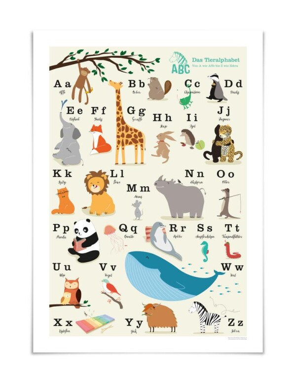 Intoxicating ABC animal poster | buchenblau®