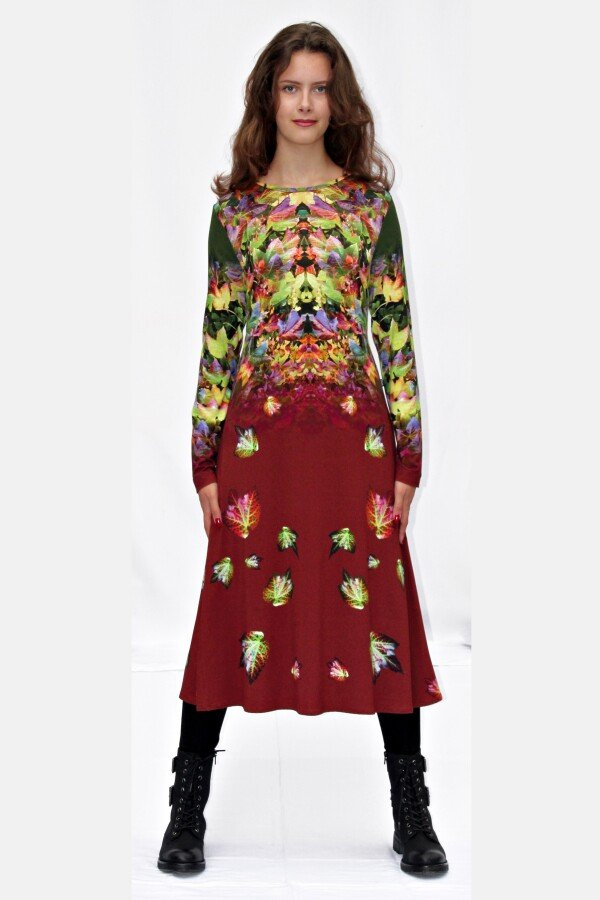 colorful jersey dress with own fabric print ADENA_89   MOLOTOW
