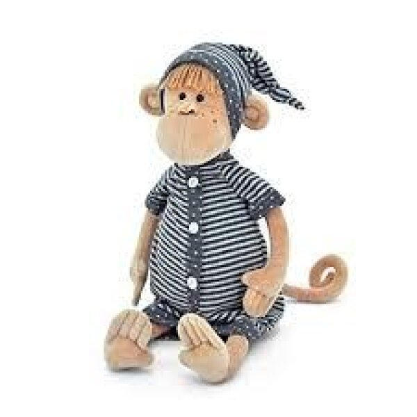 Baby monkey with striped pajamas | echt bärig