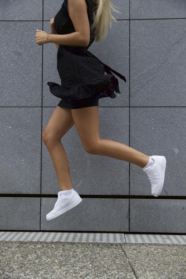Female feet in white   Sockinger-Die Sockenmanufaktur