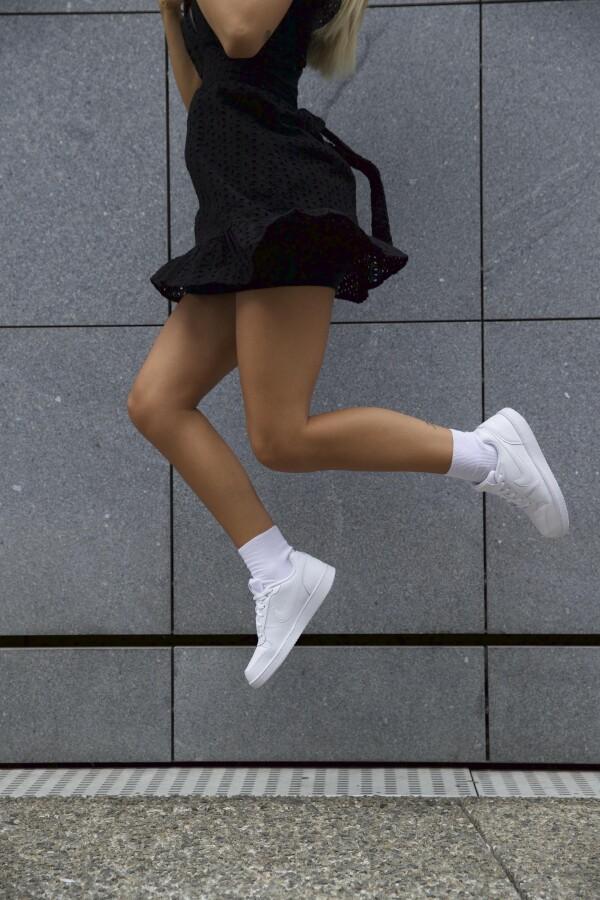 Female Color Line white - without elastic waistband | Sockinger-Die Sockenmanufaktur
