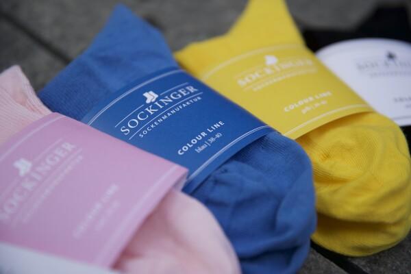 Female Color Line yellow - without elastic waistband   Sockinger-Die Sockenmanufaktur