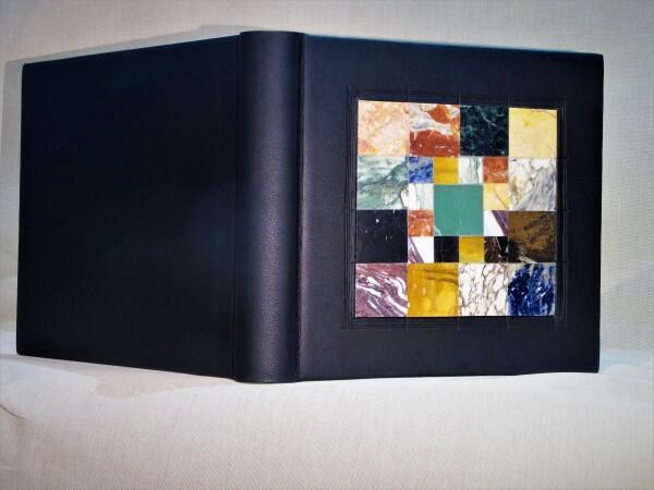 Photo album with marble collage | Antica Legatoria Viali