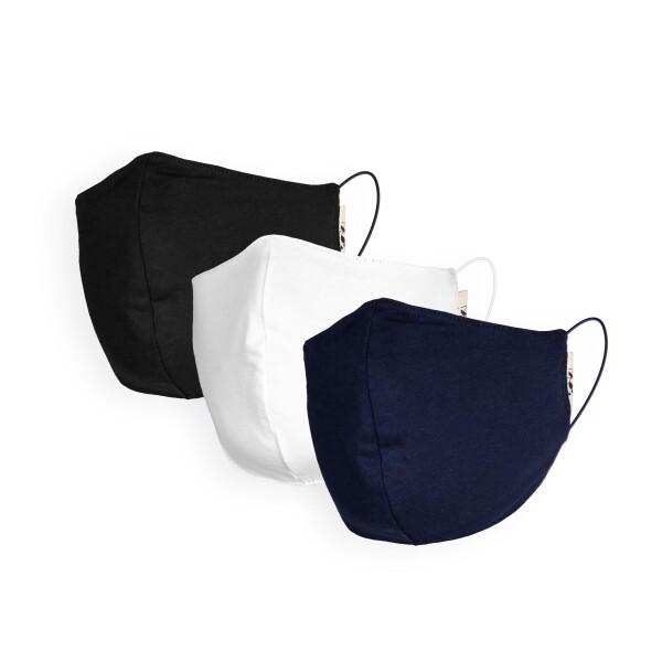 Set of 3 organic cotton masks | soki Kassel