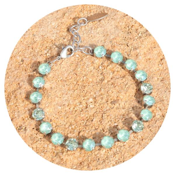artjany bracelet mint green mix | artjany - Kunstjuwelen