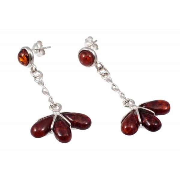Amber-silver earrings | BalticBuy