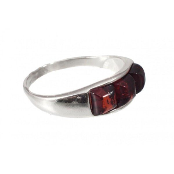 Amber-silver ring | BalticBuy
