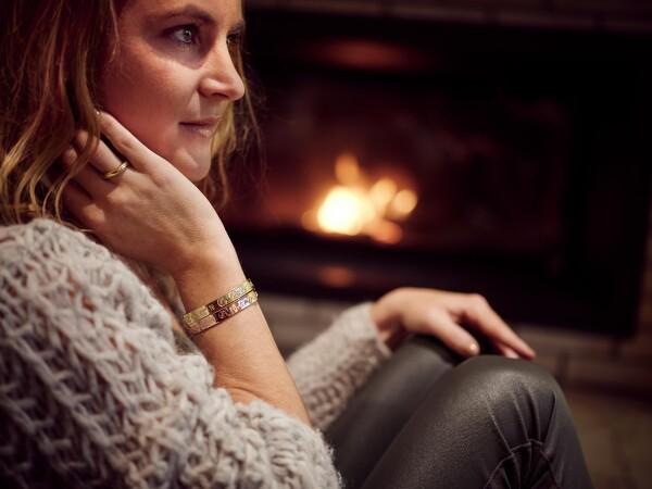 SYLT Women's Coordinates Arm Bracelets Ladies Gold Plated   ANCRAGE