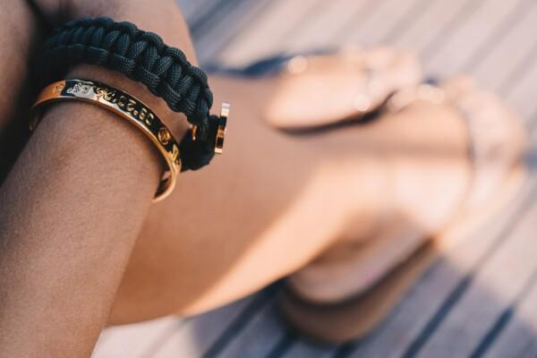 SYLT Coordinate Arm Bracelets rose gold plated | ANCRAGE
