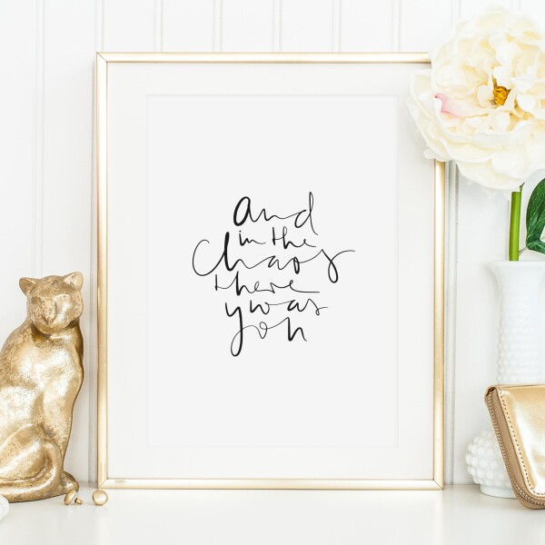 Tales by Jen Art Print: And in the chaos there what you | Tales by Jen