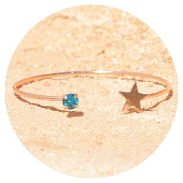artjany bangle blue zircon | artjany - Kunstjuwelen