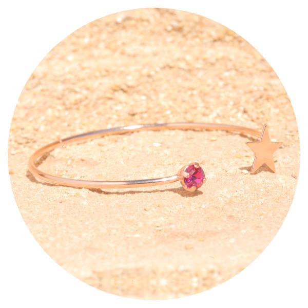 Artjany bracelets fuchsia rose gold   artjany - Kunstjuwelen