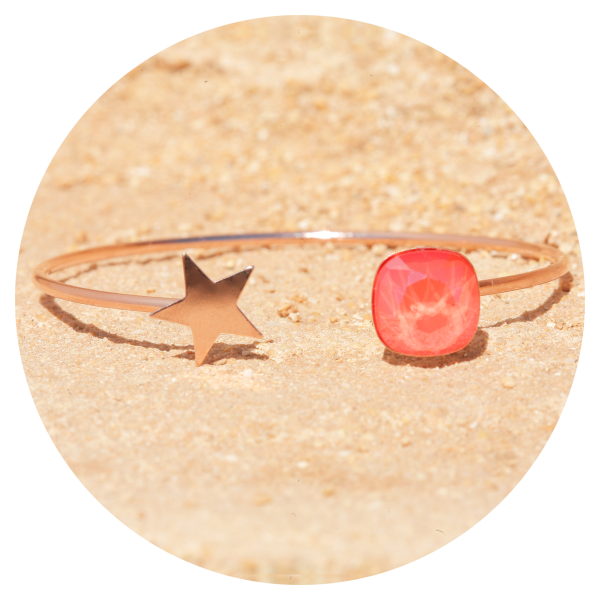 artjany bangle light coral | artjany - Kunstjuwelen
