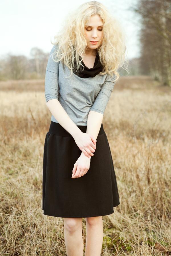 Ava cotton dress with collar | kirsch-grün