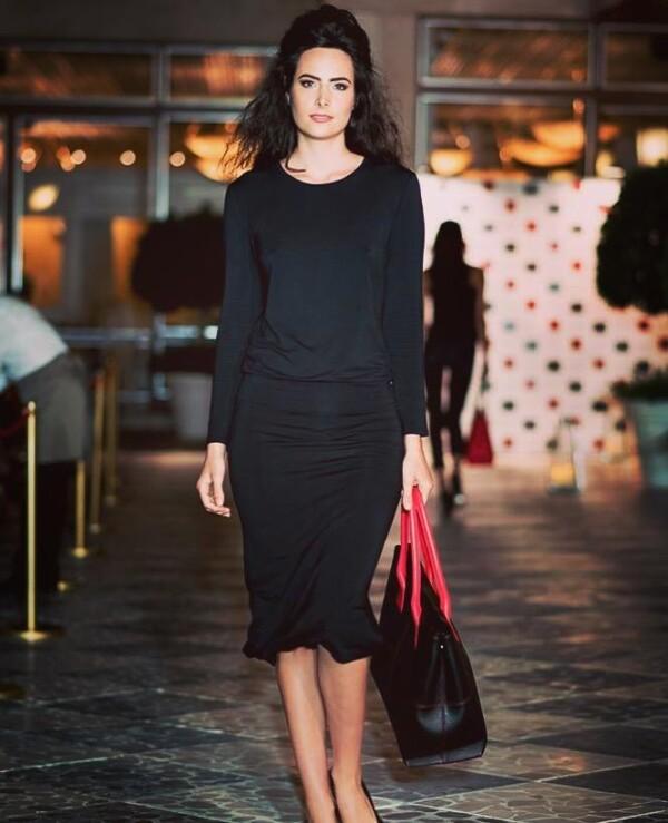 Natalia tote handbag black and red   Tara´s