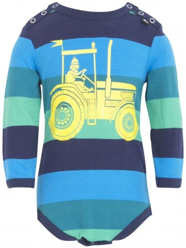 Danefae Green and Navy Large Yellow Tractor Body | IsaDisaKids