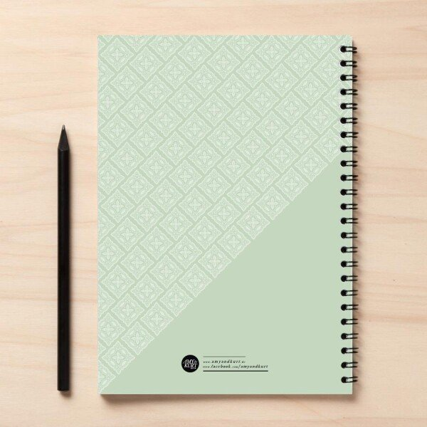 A5 mint green recipe book