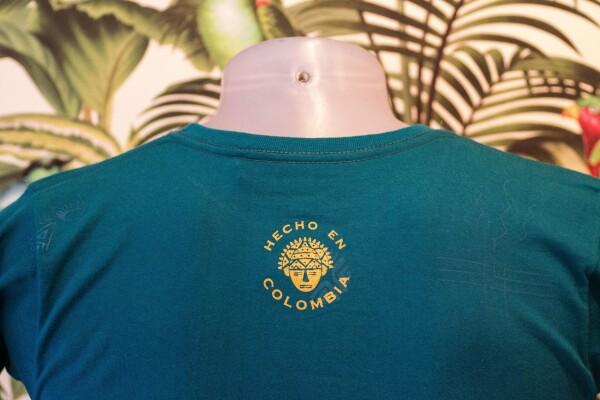 100% Cotton T-Shirt Turquoise / Gold Unisex | Bizar_Cologne