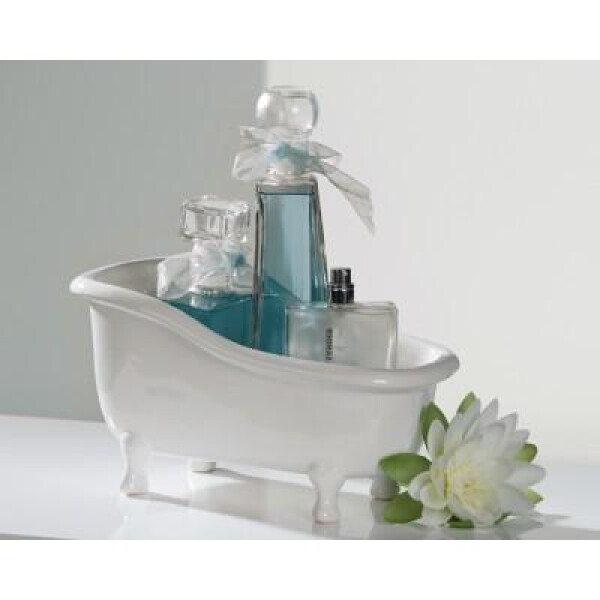 Decoration bowl bathtub white | roomOutfit