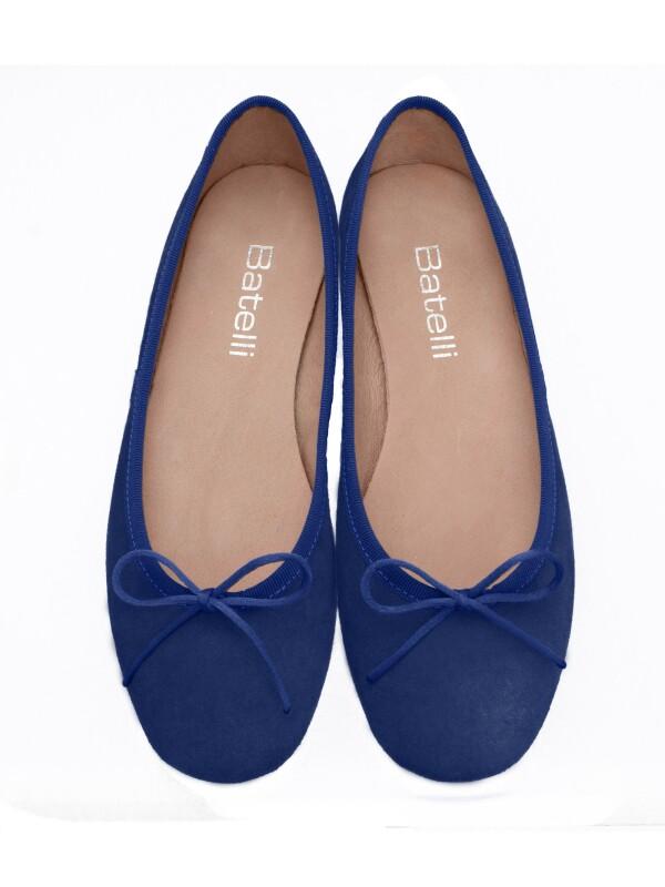 Ballerinas dark blue suede Batelli Ballerina blue | Batelli Ballerinas