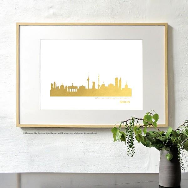 Artprint Bremen in gold | 44spaces
